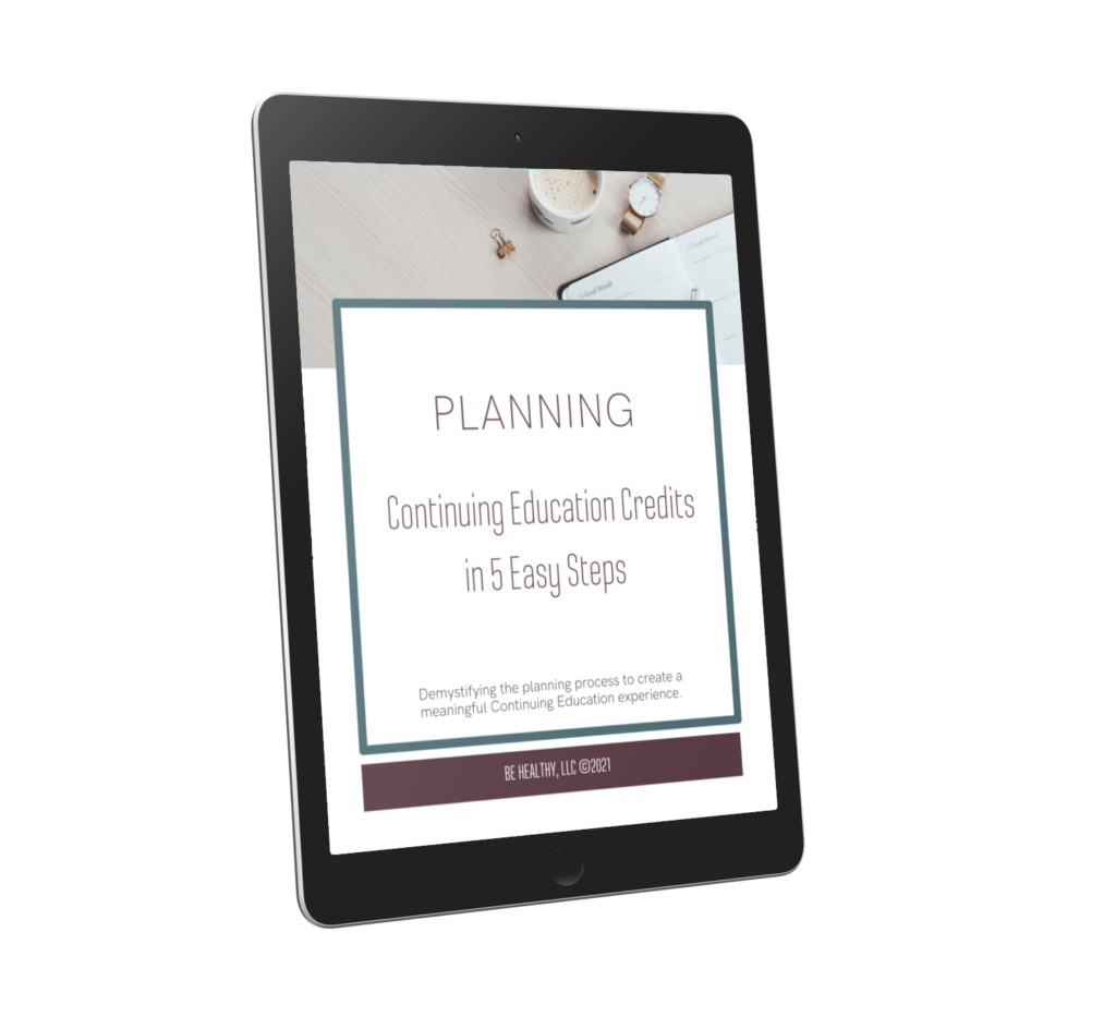 Planning Continuing Education Credits Cover